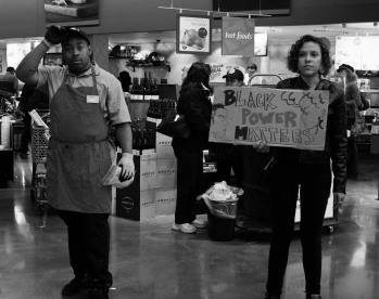 """of the supermarket – Black Lives Matter Protest, Oakland 2013"" by Danielle Ciccone"